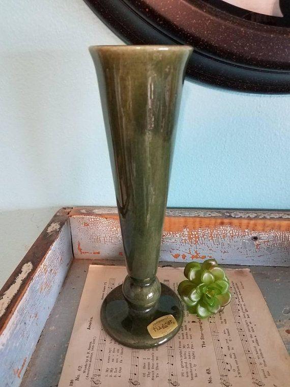Tall Green Haeger Vase My Etsy Shopsweet Old Things Pinterest