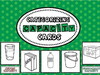 Captivating Capacity Cards - free cards for sorting