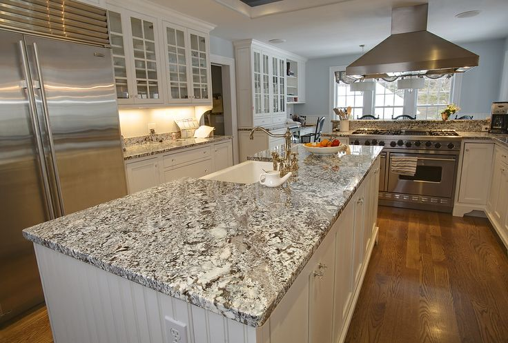 Antique Ice Granite And Pencil Edge 2 Kitchen