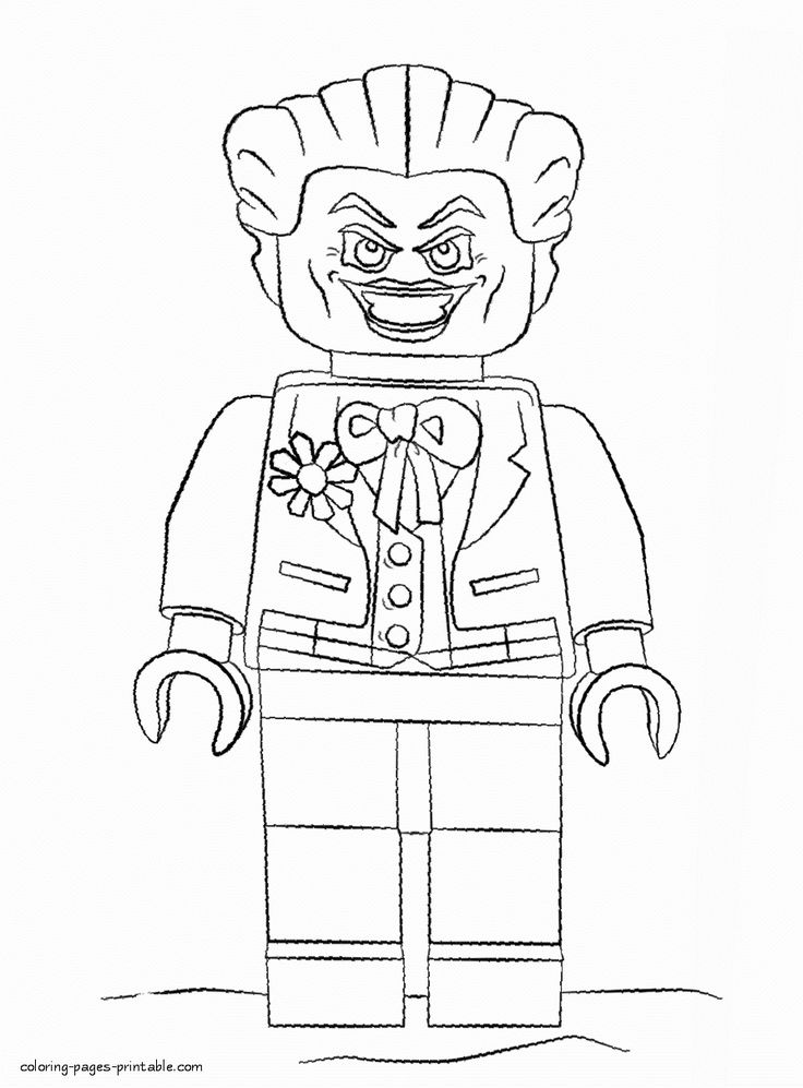 Lego Joker Coloring Page Awesome Joker Coloring Page