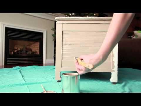 Furniture Painting Tutorial - Step 1: prep & base coat