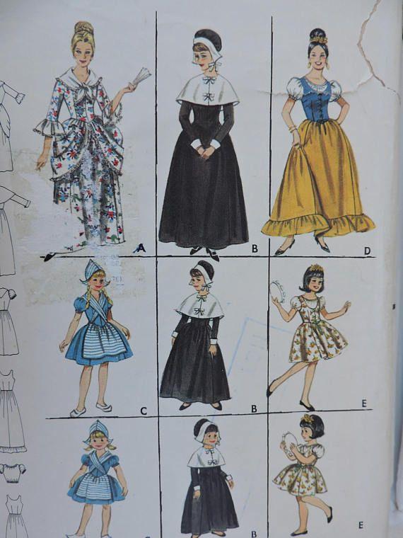 Colonial Puritan Dutch Spanish Gypsy Historic Costume Stage
