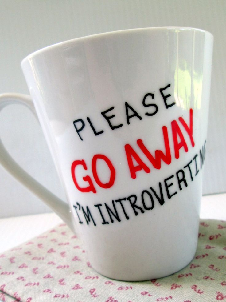 Please Go Away I'm Introverting Coffee Mug Cute Gag Gift Birthday Gift Funny Quote Mug Christmas Gift Painted Typography Funny Saying Mug by GetPersonalEtc on Etsy