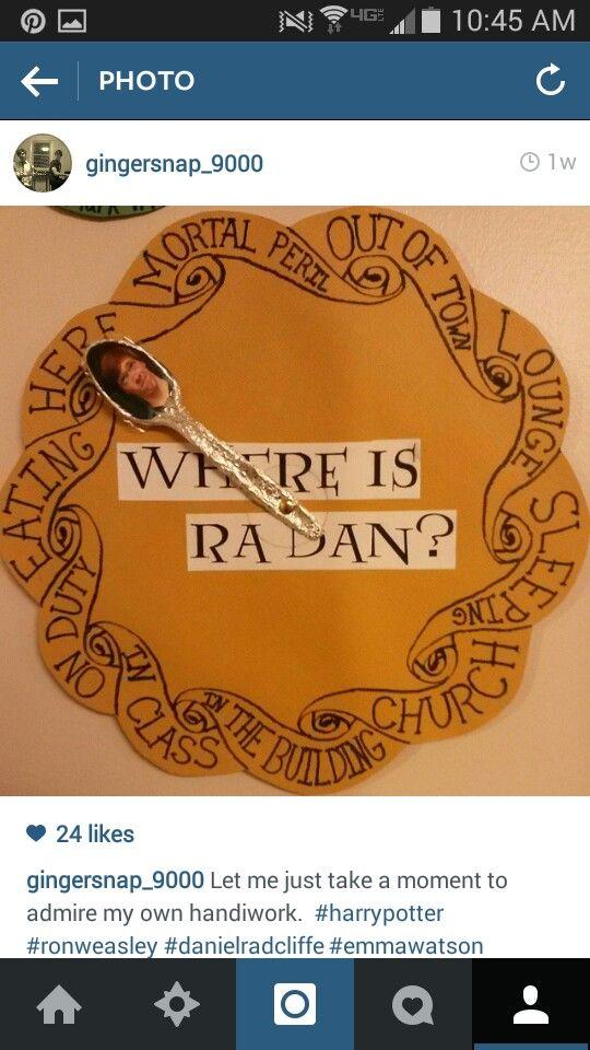 RA Weasley clock                                                                                                                                                     More