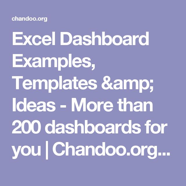 Excel Dashboard Examples, Templates & Ideas - More than 200 dashboards for you   Chandoo.org - Learn Microsoft Excel Online