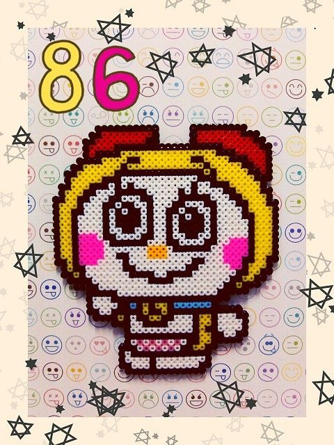 Dorami Doraemon hama perler by Ryoko