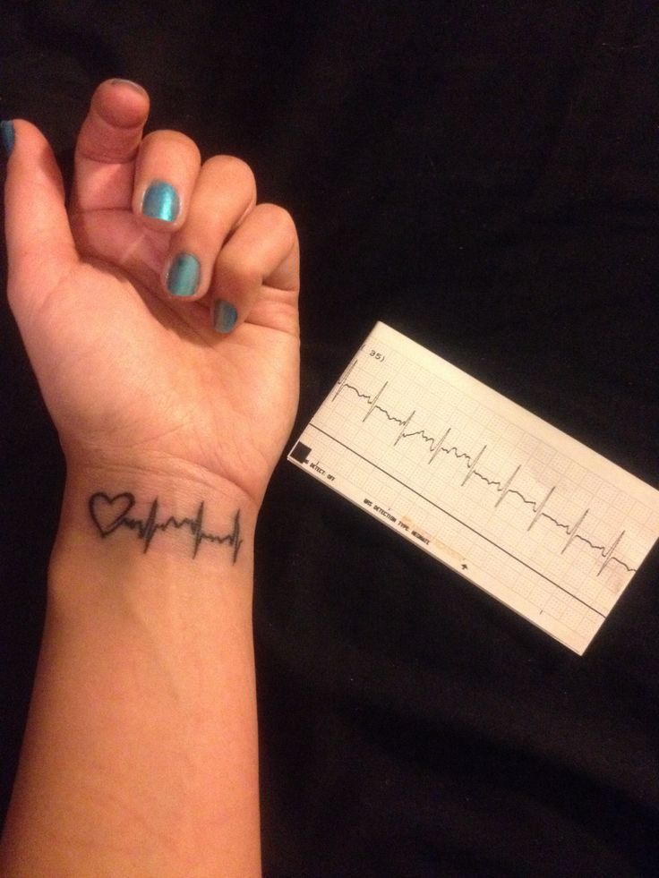 Tattoo of my premature sons heartbeat when he was in the NICU before he started getting healthier. Just to remind me how much we overcame because I have such a strong miracle baby