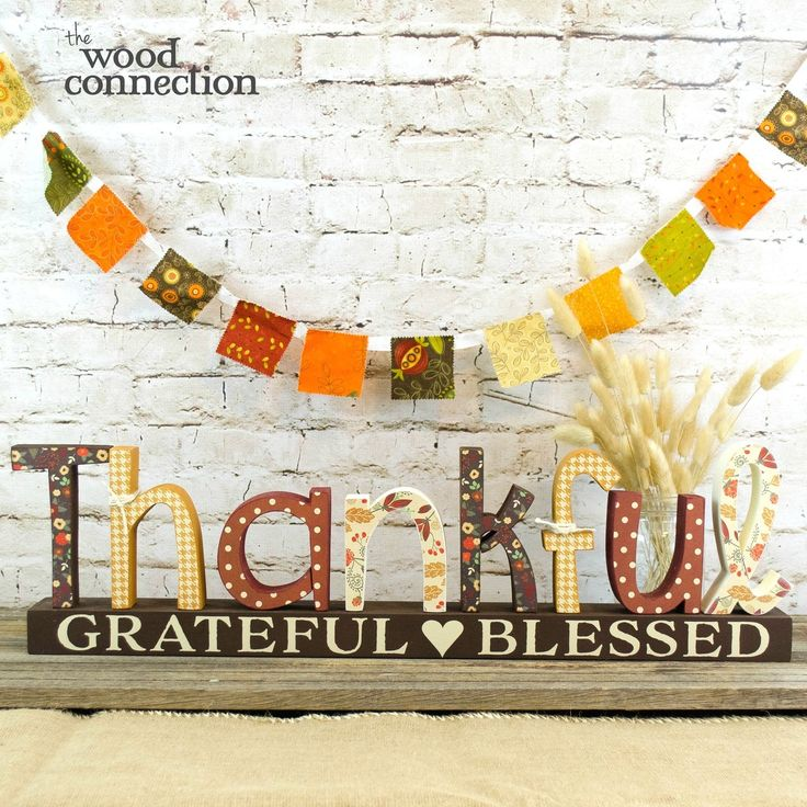 The Wood Connection - Thankful Letter Set, $13.95 (http://thewoodconnection.com/thankful-letter-set/)