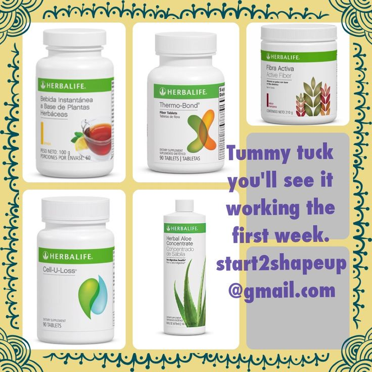 Got to try this it work you will start seeing the result the second week. Herbalife tummy tuck. No surgery require. Fallow with 30 min excersice