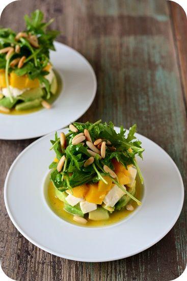 Frl. Moonstruck kocht!: Avocado-Mozzarella-Mango-Salat