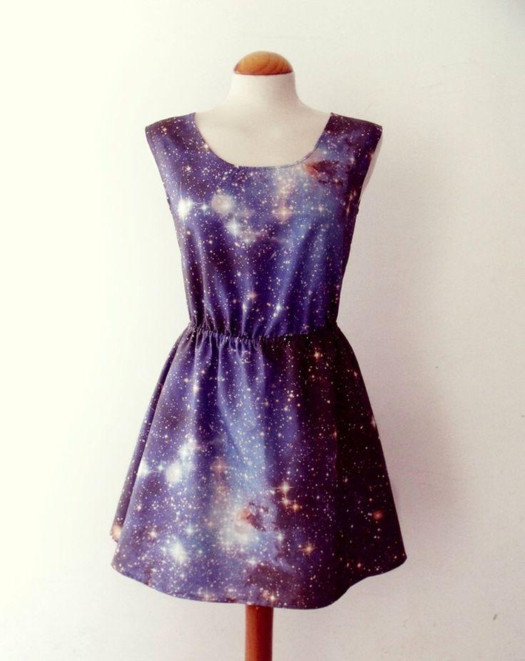 Galaxy dress cosmic nebula grunge dress blue grey by luminia on Etsy https://www.etsy.com/listing/160414436/galaxy-dress-cosmic-nebula-grunge-dress