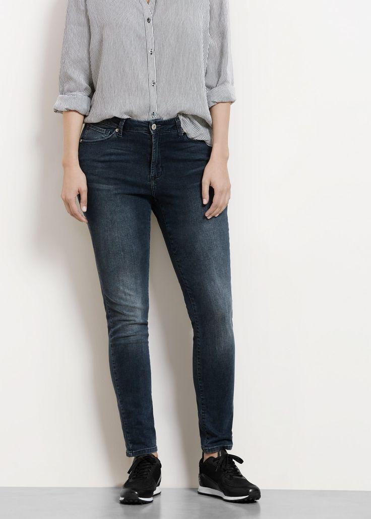 Kalhoty -- - Džíny Velké velikosti   Violeta by MANGO Česká republika