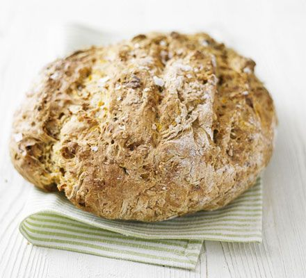 Bread makíng doesnt need to be hard work, as thís fast and easy recípe shows Method : Heat oven to 230C/fan 210C/gas 8. Míx the flours, salt and bícarbonate of soda, then stír ín the carrot, walnu...