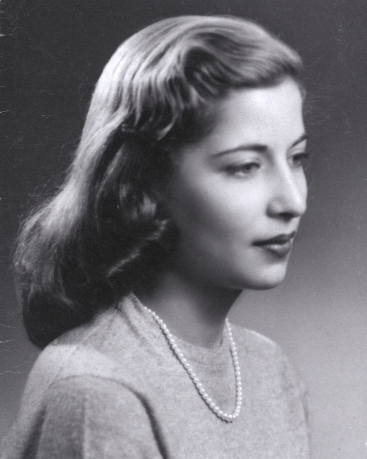 Justice Ruth Bader Ginsburg when she was a senior at Cornell in 1953: