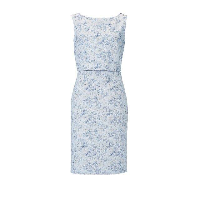 Vera Mont Printed Dress Powder Blue