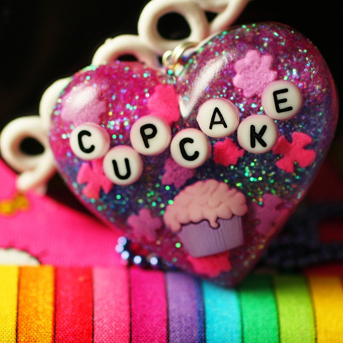 Cute Cake - Resin Candy Cupcake Necklace. $25.00, via Etsy.