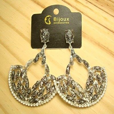 c6515d7c3 bijuterias boas e baratas para revender brinco de leque vazado leve - altura  6,5