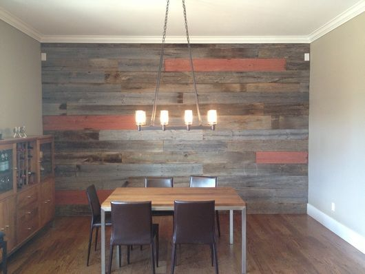 Plank Accent Wall Living Room