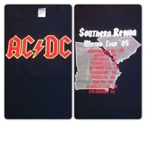 RAREAC/DC VINTAGE RARE 2005 Southern Regions Winter Tour NEW size Small Mint  | eBay