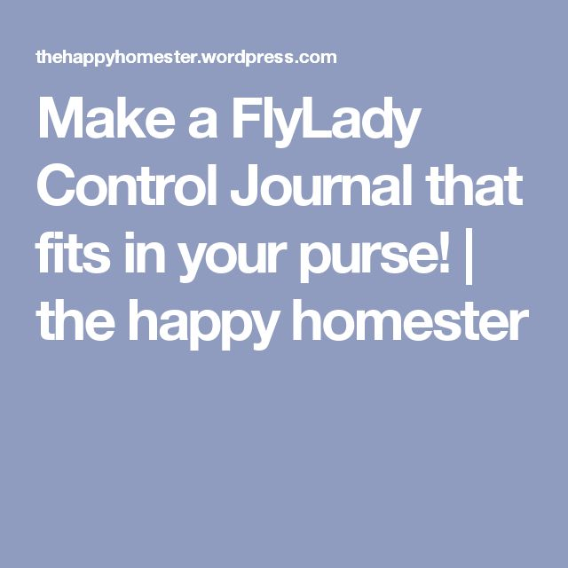 Make a FlyLady Control Journal that fits in your purse! | the happy homester