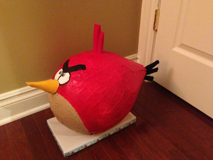 DIY Paper Mch Angry Bird Valentines Box Crafts