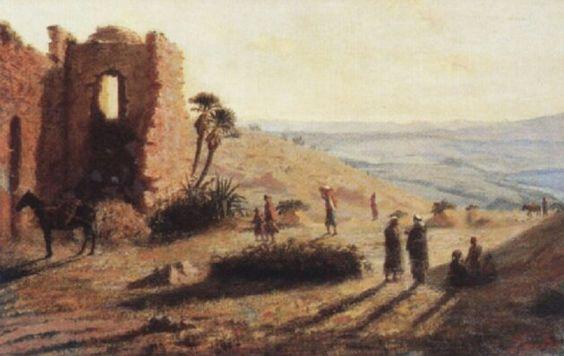 Joseph Sintes (Alaior 1829 - Alger 1913) Titre «Bouzareah, Alger » 1873