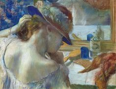 """ Edgar Degas, (Francia, 1834-1917 )Di fronte allo specchio - In front of the mirror - (1889) """