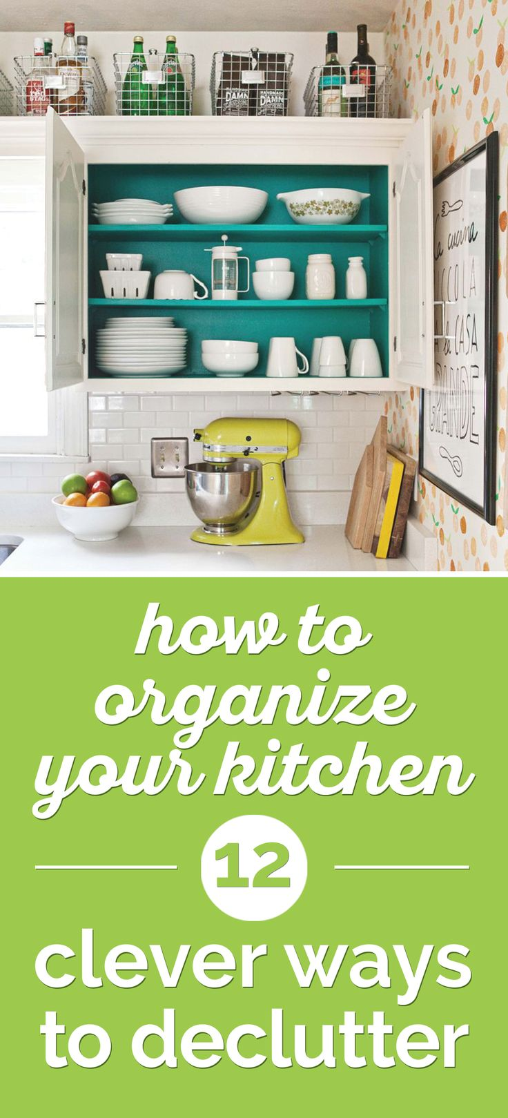 Cook happy in a tidy kitchen! These little steps can be completed in anywhere from half an hour to a weekend.