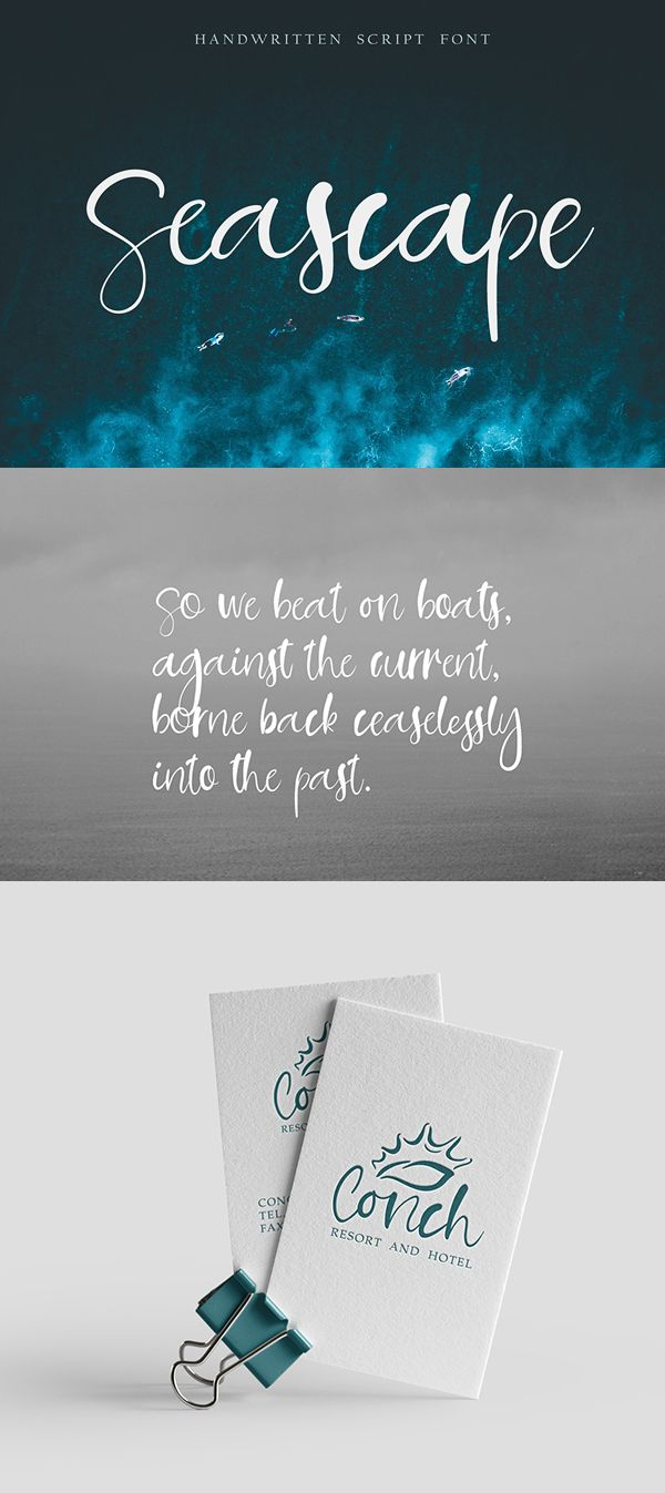 Seascape Handwritten Script Free Font #freebies #freefonts #branding #typeface #typography #scriptfonts #brushfonts #handwrittenfonts