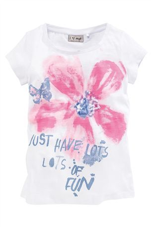 Buy White Fun Flower Top (3-16yrs) from the Next UK online shop