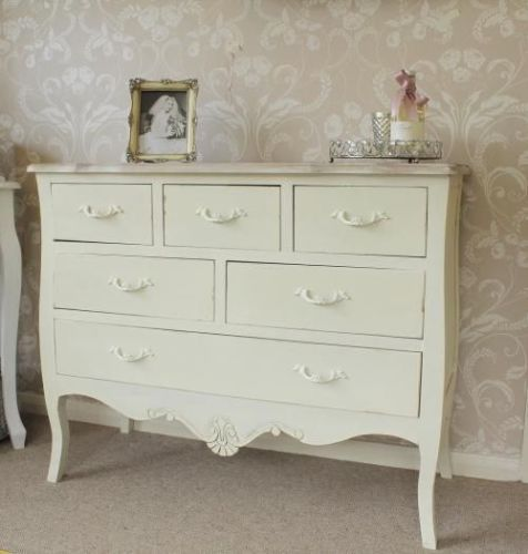 Cream-large-chest-of-drawers-dressing-bedroom-furniture-shabby-vintage-chic-home