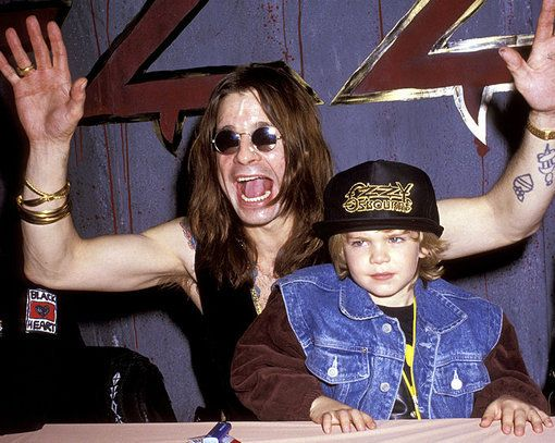 Ozzy Osbourne with son Jack in 1991