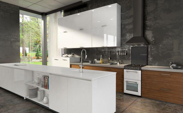Mini Richmond 54 dual fuel range cooker - White #Belling #UKmade #madeinBritian #British #cooker