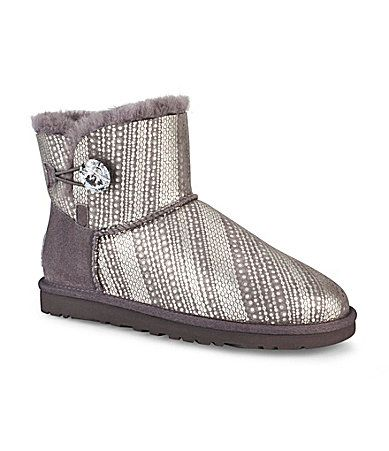 UGG Australia Womens Mini Bailey Button Bling Booties #Dillards