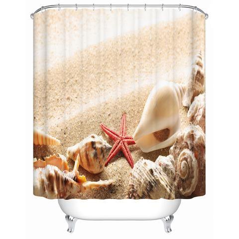 Starfish, Seashell and Beach Shower Curtain