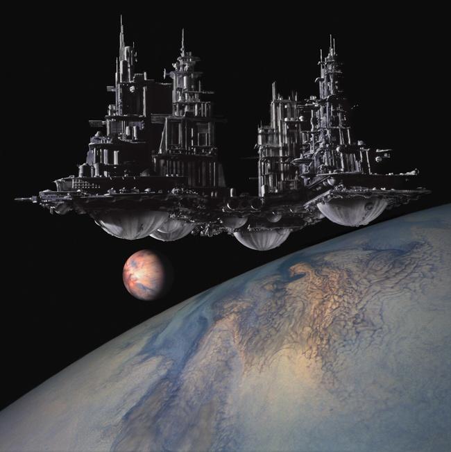 Alien [( Science-fiction, dystopia, future noir, Blade Runner, cyberpunk, night skylines, dark city, Metropolis )]