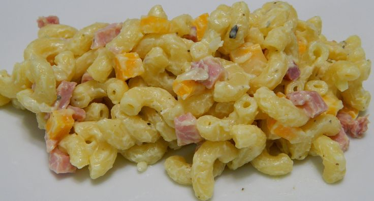 Welcome back! Today I made for you a Puerto Rican style macaroni salad o ensalada de coditos con jamon. Here are the ingredients: 1 lb cooked elbow macaroni ...