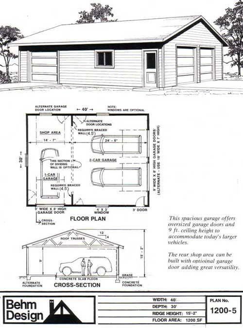 802 best Plans images – 32 X 40 Garage Plans