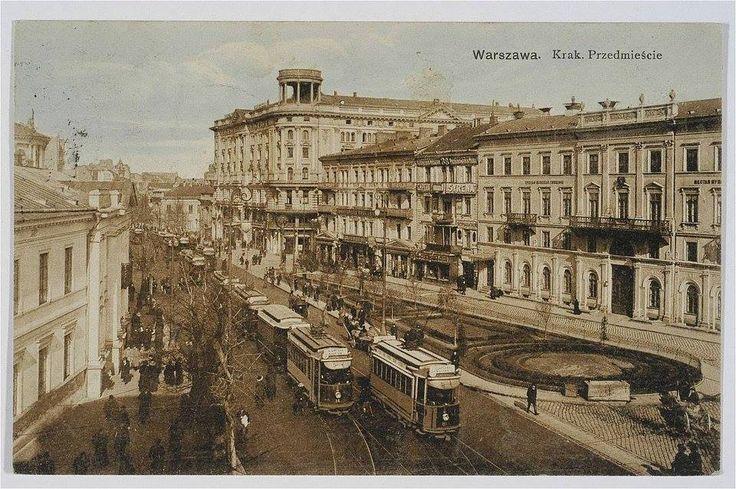 Krakowskie Przedmieście - 1910 r.