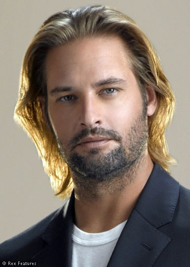 Josh Holloway, male actor, (Sawyer - Lost), sexy, hottie, eyecandy, too cute, beard, long hair style, portrait, photo