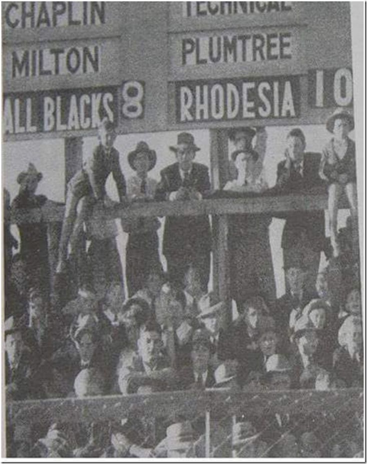 While the All Blacks were playing the Springboks on the 1949 tour, captain Fred Allen led a party of players to Rhodesia, and the now defunct international side recorded a now fabled 10-8 win over the All Blacks in Bulawayo.  To put the win into perspective, Rhodesia remain to this day one of only six nations to have defeated the All Blacks.