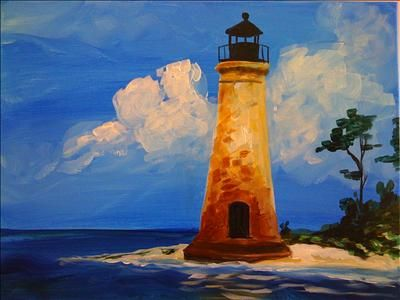 Chaney Lighthouse - Sarasota, FL Painting Class - Painting with a Twist
