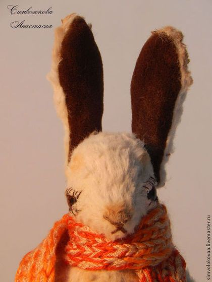 Осенний зайчишка ,совсем не трусишка. - зайчик,кролик,осенний,подарок