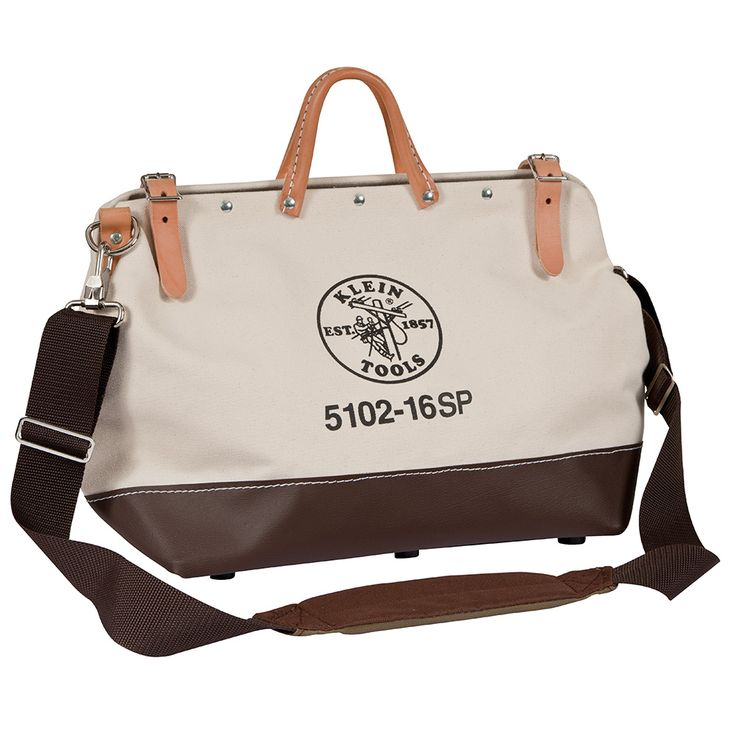 18'' (457 mm) Deluxe Canvas Tool Bag - 5102-18SP | Klein Tools - For Professionals since 1857 - about $80-100 - other sizes too