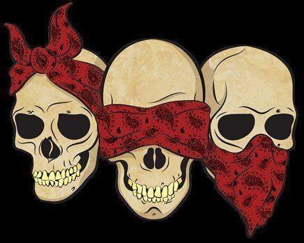 hear, speak, see no skulls
