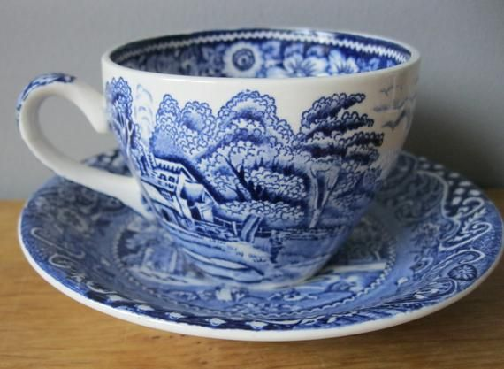 Midwinter landsape/' Coffee Tea Cup /& Saucers