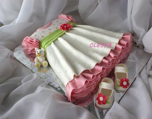 Торт детское платье