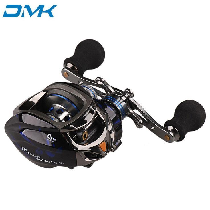 34.75$  Buy here  - DMK Round Baitcasting Fishing Reel 12+1 BB 6.3:1 Left or Right Hand Carp Reel Olta Carretilhas De Pescaria Carretilha Pesca