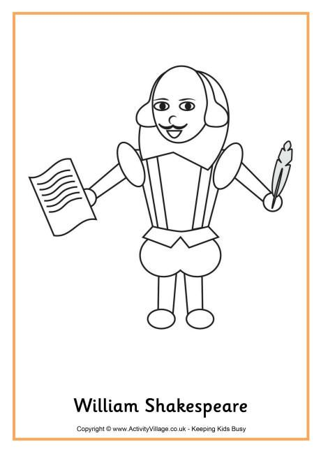 coloring pages shakespeare - photo#14
