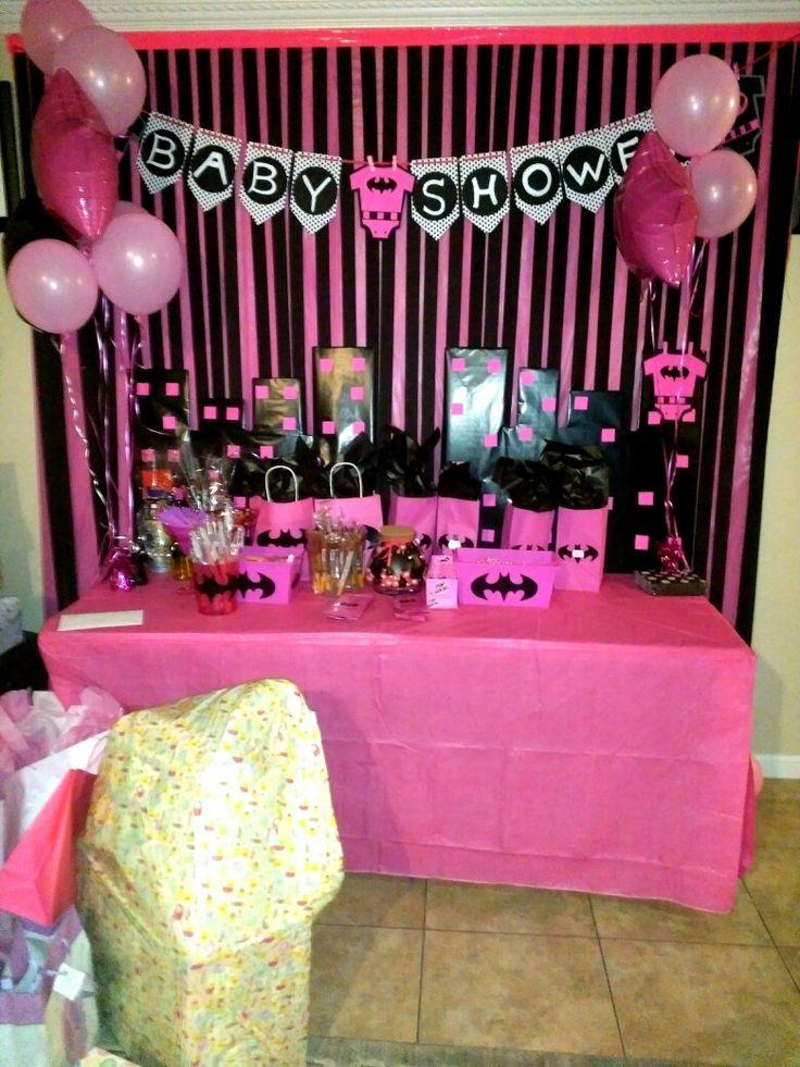 Batman Pink Baby shower theme for a baby shower  Batgirl